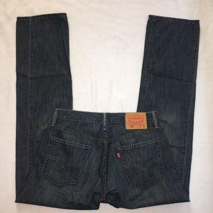 Levis Jeans 514 Slim Straight Dark Wash Size 32